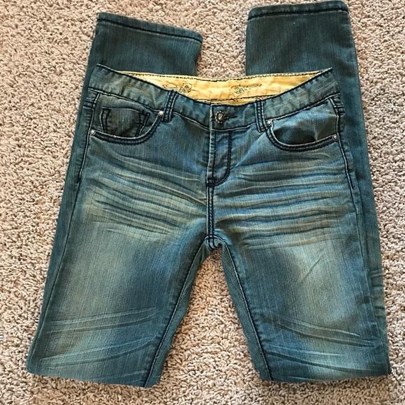 DO Denim Denim - DO Denim Skinny Distressed Embellished Jeans